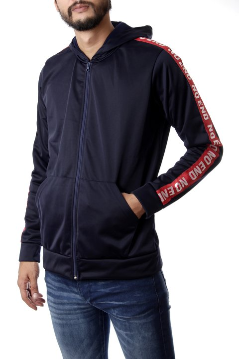 Campera Sport c/tira lateral Azul Oscuro NO END 32488