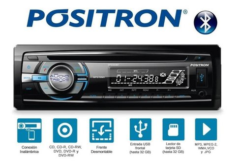 Stereo Positron Sp3320 Bt Cd-aux-bt-radio