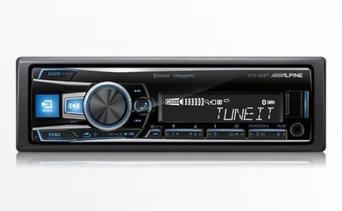Stereo Alpine Ute 62bt Bluetooth Usb Multicolor iPhone