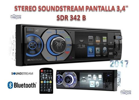 Stereo DVD SoundStream VR-345B con USB - SD - BT