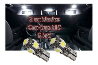 Jgo Lamparas Led T10 5 Led Smd Blanco Frio Can-bus Posicion - audiotrends