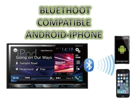 Stereo DVD Pioneer AVH-Z2050BT con Apple CarPlay - Bluetooth - Spotify