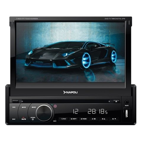 Stereo DVD Indash Napoli 7968 con GPS TV Digital Bluetooth