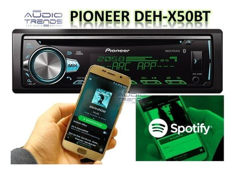 Stereo Pioneer Deh X50 Bt Multicolor Bluetooth Reemplaza X5