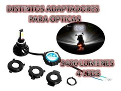 Kit CreeLed Alta Y Baja Para Moto 3400 Lumens - Audio Trends
