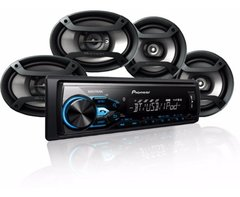 "Combo Pioneer MXT-X3869BT - Stereo USB / BT sin CD + Parlantes 6x9"" + Parlantes 6"" - comprar online"