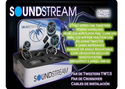 Tweeters Soundstream Twt5 1 Pulgada 110w Rms Crossovers