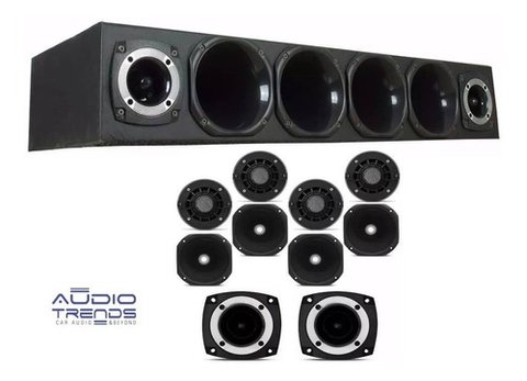 Combo Rackera 4 Driver 2 Super Tweeter Bomber  Audiotrends