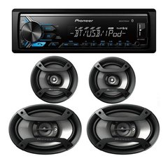 "Combo Pioneer MXT-X3869BT - Stereo USB / BT sin CD + Parlantes 6x9"" + Parlantes 6"" - tienda online"