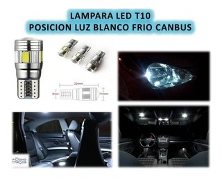 Lampara T10 Posicion 6 Led Cree C/lupa Blanco Frio Can-bus - comprar online