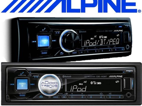 Stereo Alpine Cde-143bt Cd Bluetooth Usb Aux Audio Trends