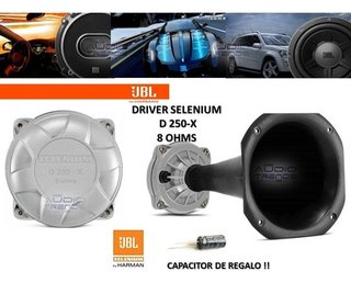 Driver Jbl Selenium D250 + Corneta Jbl + Capacitor Local New - audiotrends