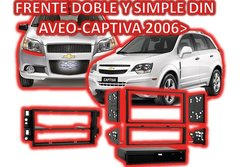 Marco Adaptador Frente Estereo Chevrolet Aveo Captiva 2 Din - Audio Trends