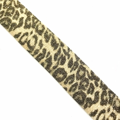 Listra Animal Print ouro Metalizada - 2,5cm