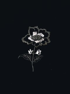 Aplique Flor Black