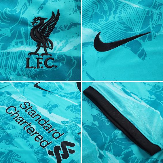 Camisa Liverpool Third 2020 2021 Azul