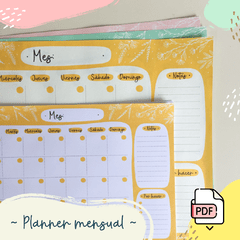 Planner mensual imprimible