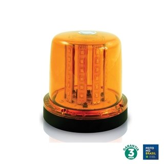 Giroled 10w Âmbar 12/24 V 54 Leds Imã 41514
