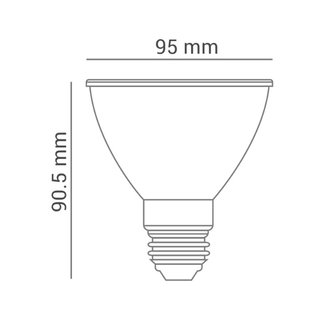 Lâmpada LED Par30 11w 6000k LP 33907