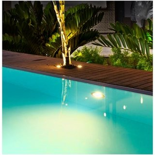 Luminária LED Piscina Branca 125mm Tubo 3/4