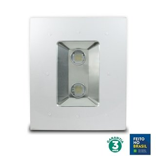 Luminária LED Posto 100w 75° 6500k Chip Philips 70306