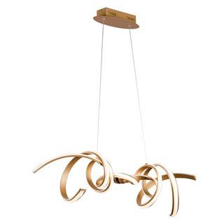 Pendente FLUIRE 100cm Dourado Led Bella RE006