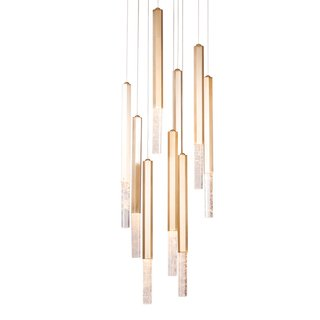 Pendente VITA 52cm Dourado Led Bella RE008L