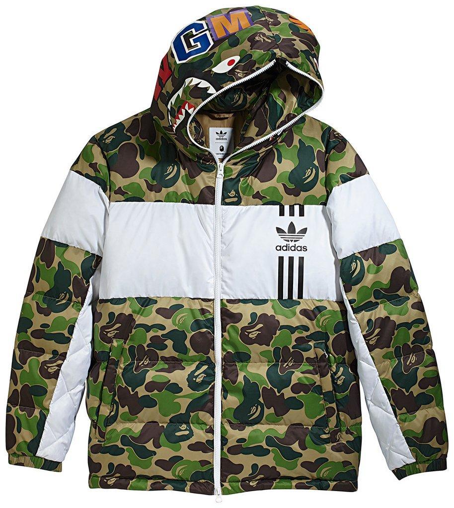 9f686178 Original Adidas Men ID96 Down Bape Jacket BK4568 Camo Shark WGM Bathing APE  DS Hoodie