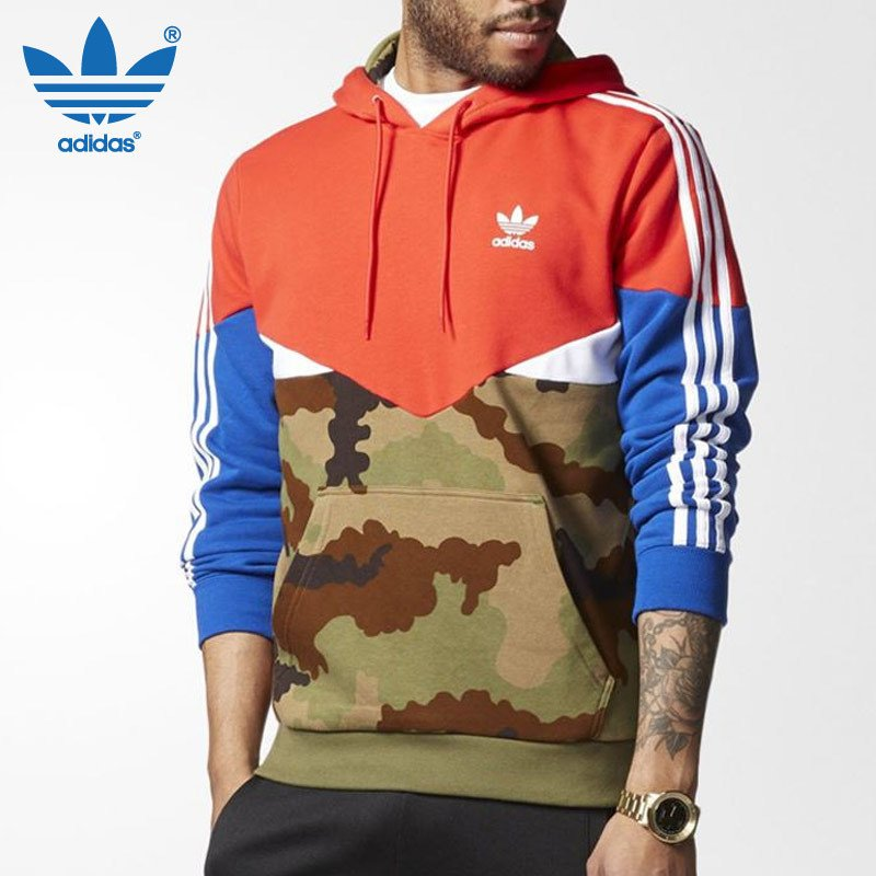 new style 78b9d 5719a Original Adidas Camo Pack Hoodie AY8106 ES OTH Multicolor Red Head Hoodies