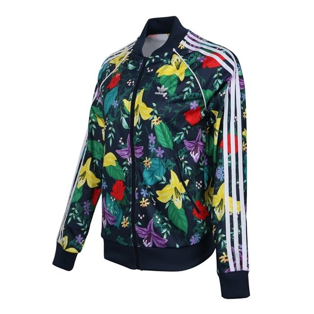 69b5873c5 Adidas SST Graphic Track Jacket Multicolor ED6584 Graphic Flower Zip Track  Jacket