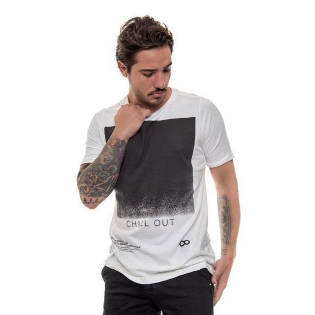 T-SHIRT CLASSIC CHILL OUT BRANCA