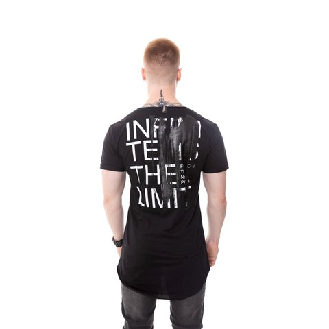 CAMISETA LONG INFINITE IS THE LIMIT GEL BRILHO