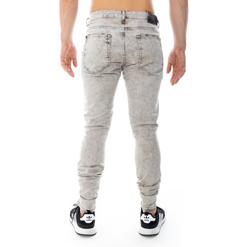 JEANS SKINNY BLACK DESTROYED