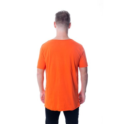 CAMISETA LONG MINIMAL INFINITE IS THE LIMIT LARANJA