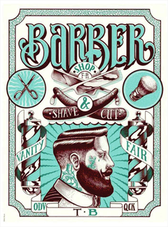 Placa decorativa Barber