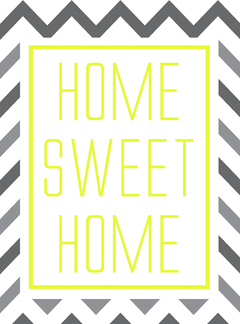Placa decorativa Home Sweet