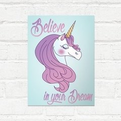 Placa decorativa Believe in your dream