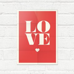 Placa Decorativa Love heart