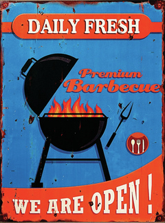 Placa decorativa Premium Barbecue