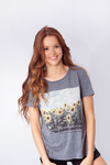 REMERA ESTAMPADA GIRASOLE BLOOM MOOD en internet