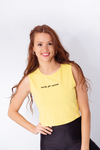 MUSCULOSA ALGODON CON LYCRA BORDAD READY FOR SUCCESS