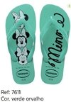 Havaianas Kids Top Disney Minie Verde Original Chinelo Novo