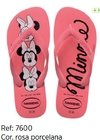 Havaianas Kids Top Disney Minie Rosa Original Chinelo Novo
