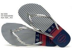 Havaianas Slim Nautical Branco Ancora Original Nova