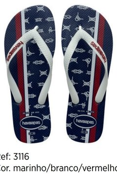 Havaianas Top Nautical Azul Original Chinelo Masculino Novo