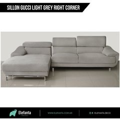 Sillon Gucci Light Grey Right Corner