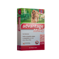 Antipulgas e Carrapatos Advantage MAX3 Bayer