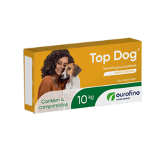 Vermifugo Top Dog Ouro Fino cães