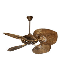 Rattan Fan Casablanca style cigar color