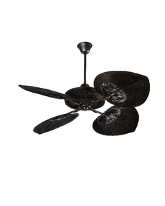 Casablanca style rattan Fan dark chocolate